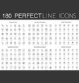 180 modern thin line icons set of education vector image