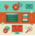 web development vector image