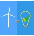 Wind turbine as eco-friendly source of energy vector image