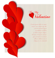 Valentine hearts cutout design card vector image vector image