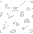 Seamless pattern of smoking elements vector image