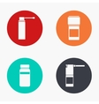 modern medical kit colorful icons set vector image vector image