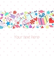 Holiday background with text placeholder vector image