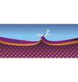 scissors cutting ribbon vector image vector image