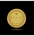 Brand of the year label vector image