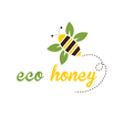 bee eco honey vector image