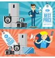 Best prise and buy today flyers vector image