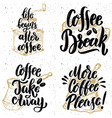 coffee take away more coffee please hand drawn vector image