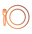 dish and fork icon vector image