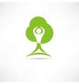 Eco man icon vector image