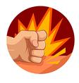 fist strike vector image