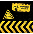 Grunge Hazard Warning vector image