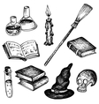 magic set of objects for witch vector image