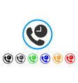 phone time rounded icon vector image