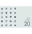 Set of Internet marketing icons vector image