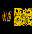yellow halloween party vector image