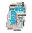 Tag cloud for web and internet design vector image