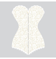 white lace corset corset vector image vector image
