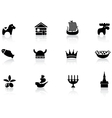 Swedish icons vector image