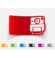 realistic design element old photocamera vector image