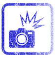 camera flash framed textured icon vector image