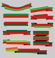 christmas paper ribbon banner stickers with vector image