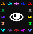 Eye icon sign Lots of colorful symbols for your vector image