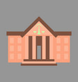 flat icon on stylish background courthouse vector image