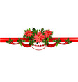 holiday floral border vector image