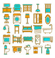 home furniture appliances and room interior vector image