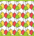 seamless pattern with colored balloons festive vector image