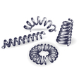 Set of 4 springs vector image