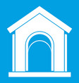 Toy house icon white vector image