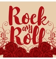 ock and roll and roses vector image