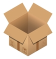 Flat carton Open box on white backgroundPost vector image