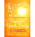 summer beach party card vector image