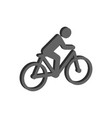 cyclist symbol flat isometric icon or logo 3d vector image