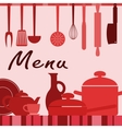 Kitchenware and cooking process vector image