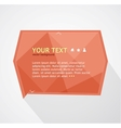 red text box vector image