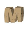 letter m stone font rock alphabet symbol stones vector image