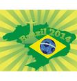 inscription Brazil in 2014 vector image vector image