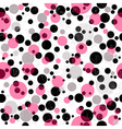 Seamless white grungy pattern vector image