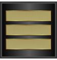 golden banners vector image