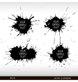 Set of grunge splashes Grunge background vector image
