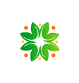 green leaf abstract bio ecology logo vector image vector image