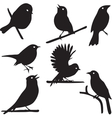 Bird Silhouettes bird on branch vector image