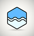 Blue wave interface icon vector image vector image