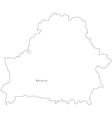 Black White Belarus Outline Map vector image vector image