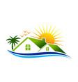 coast real estate logo design vector image