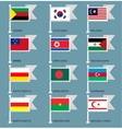 Flags set four-14 vector image